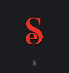 S e monogram combined letters beautiful classic vector