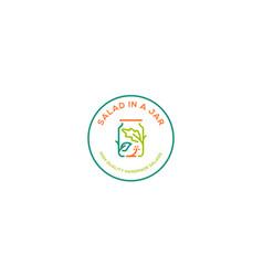 salad in a jar logo icon download vector image
