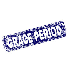 Scratched grace period framed rounded rectangle vector