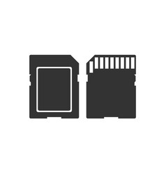 sd card icon isolated memory card adapter icon vector image