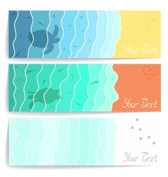 Sea postcards vector image