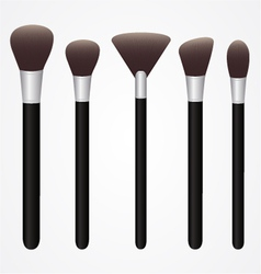 Set of Cosmetic Brushes for Make up vector