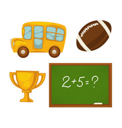 Set of school activities vector