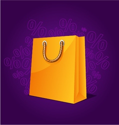 Shopping paper bag empty sale vector