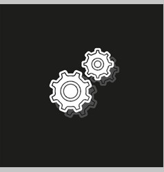simple settings icon vector image