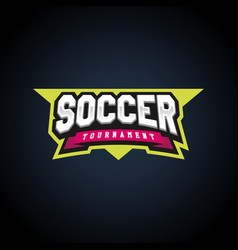 soccer or football text power full typography vector image