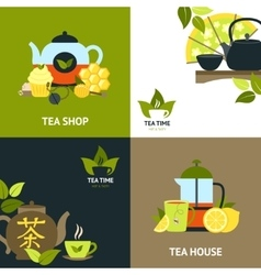 Tea Design Concept Set vector