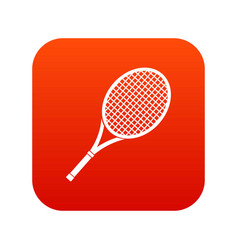 tennis racket icon digital red vector image