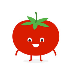 Tomato cute vegetable character vector