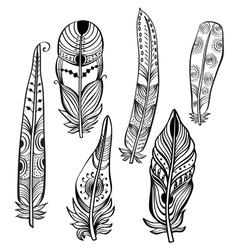 Tribal Ethnic Feathers vector image