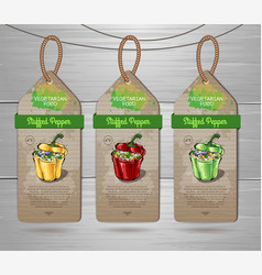 Vegetarian menu design vector