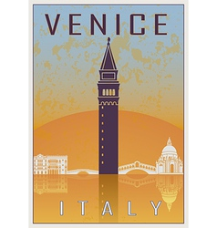Venice vintage poster vector