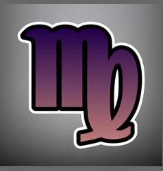 virgo sign violet gradient vector image