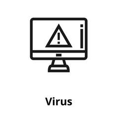 virus line icon vector image