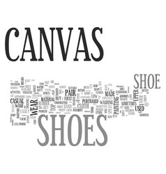 What you should know about canvas shoes text word vector