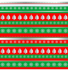 Wrapping Christmas paper vector image