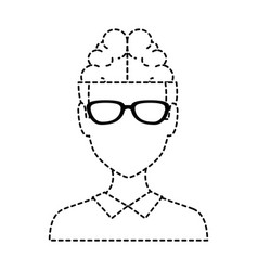 young man with brain avatar character vector image