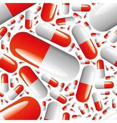 capsule seamless pattern vector image