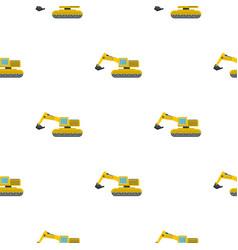 Excavator pattern flat vector