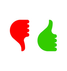hand gesture with thumb up and down color icon vector image