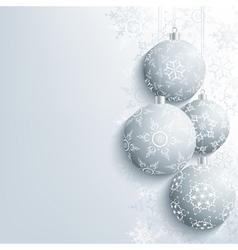 New Year and Christmas card with christmas ball vector image