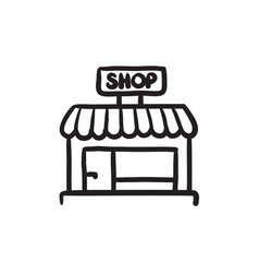 shop store sketch icon vector image