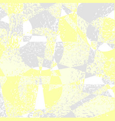 yellow grey grunge geometric background vector image vector image
