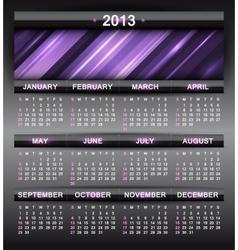 abstract calendar 2013 vector image