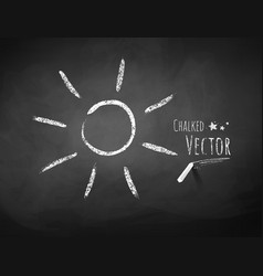 Chalkboard drawing of sun vector image