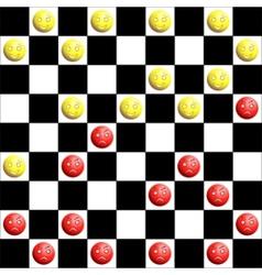 checkers board vector image