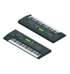 Isometric electronic synthesizer vector image