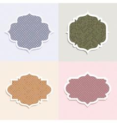 polka dot themed labels vector image vector image