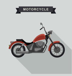 red chopper motorcycle vector image vector image