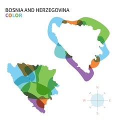 Abstract color map of Bosnia and vector image