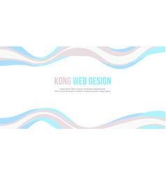 Abstract header website banner modern style vector