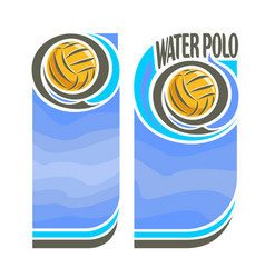 Banners for water polo vector