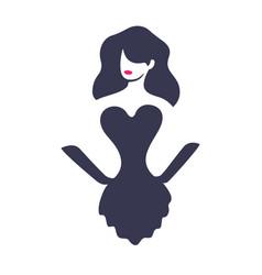 beautiful girl logo design vector image vector image