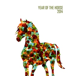 Chinese new year of the Horse shape bubbles EPS10 vector image vector image