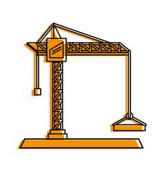 construction crane icon image vector image vector image