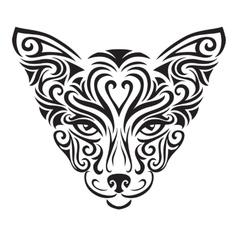 Decorative ornamental cat silhouette vector image