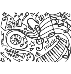 Doodle set of music vector