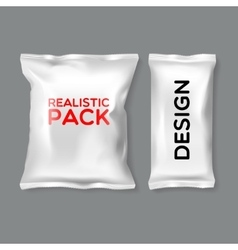 Realistic Pack Templates vector image vector image