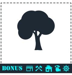 Tree icon flat vector image vector image