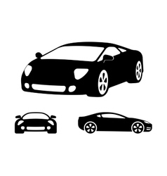 luxury car silhouettes vector image