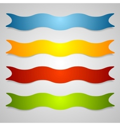 Set of wavy label ribbons vector image vector image