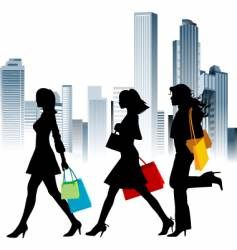 urban shopping vector image