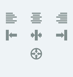 Alignment icon set vector