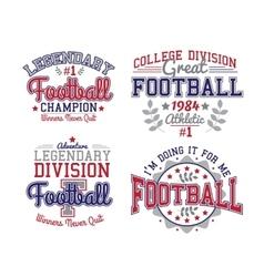 American football badges vector