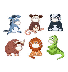 animals in medicine masks vector image
