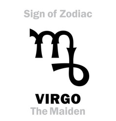 Astrology sign zodiac virgo virgin maiden vector